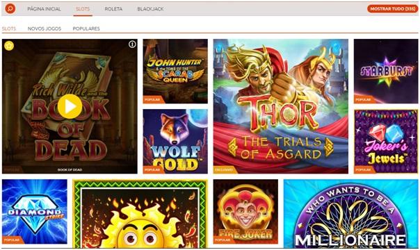 Jogos no Bacana Play Casino