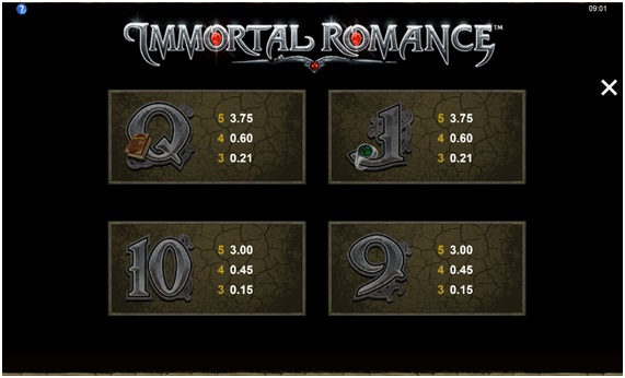 Análise da slot Immortal Romance5